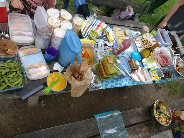 Food at the Vegan Picnic