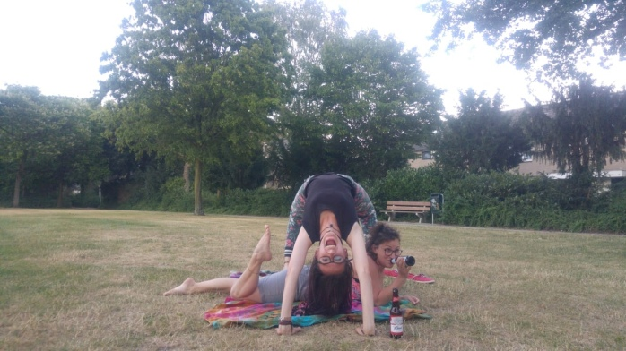 Yoga in the Park. With Beer